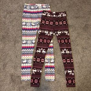 Bundle of holiday leggings